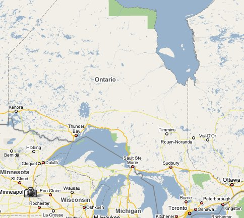 Map of Ontario - Google Maps